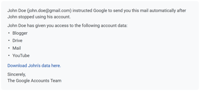 sample inactive account message